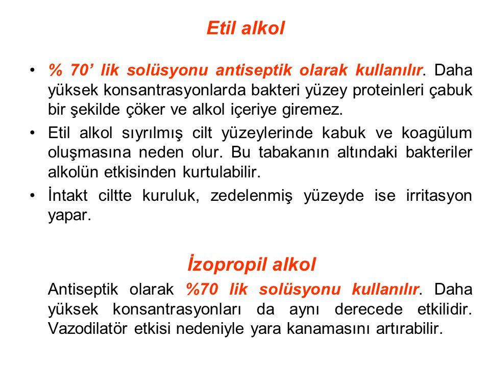 Etil alkol İzopropil alkol