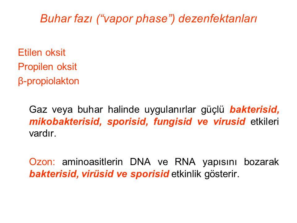Buhar fazı ( vapor phase ) dezenfektanları
