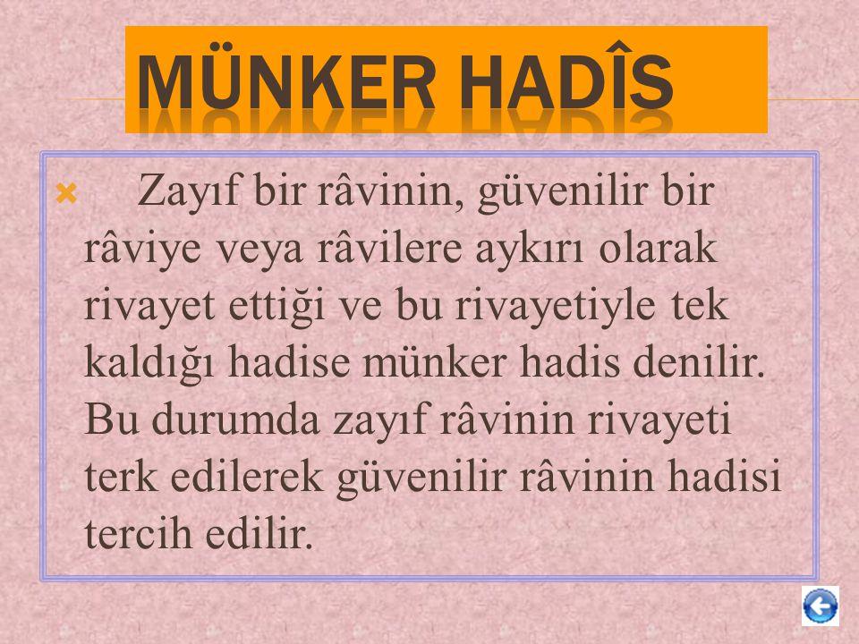 Münker Hadîs