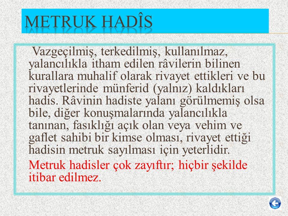 Metruk Hadîs