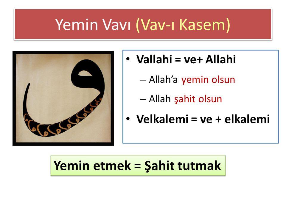 Yemin Vavı (Vav-ı Kasem)