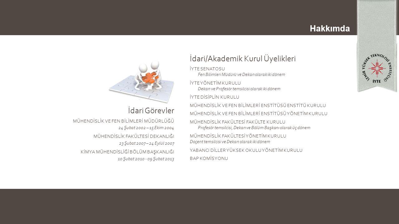 İdari/Akademik Kurul Üyelikleri