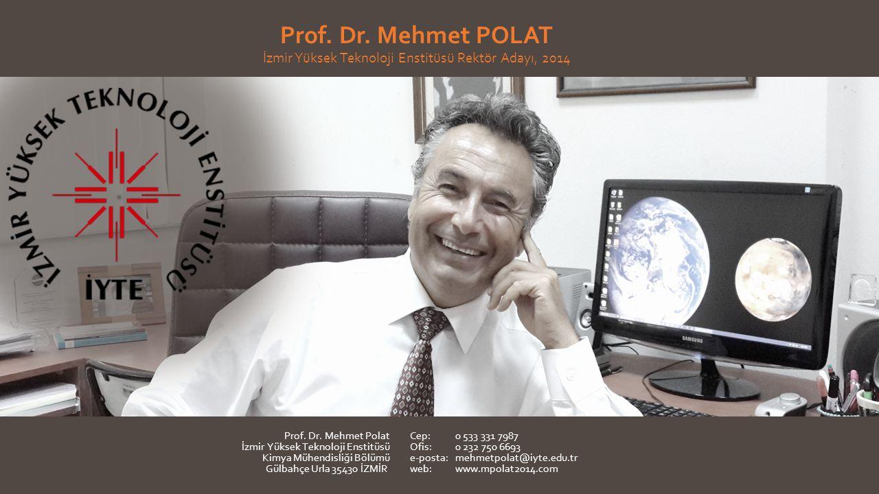 Prof. Dr. Mehmet POLAT İzmir Yüksek Teknoloji Enstitüsü Rektör Adayı, 2014