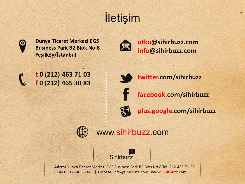 İletişim www.sihirbuzz.com utku@sihirbuzz.com info@sihirbuzz.com