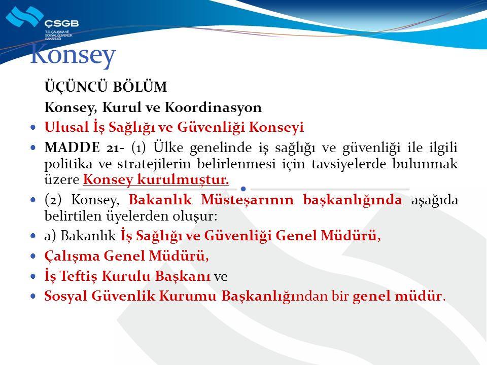 Konsey ÜÇÜNCÜ BÖLÜM Konsey, Kurul ve Koordinasyon