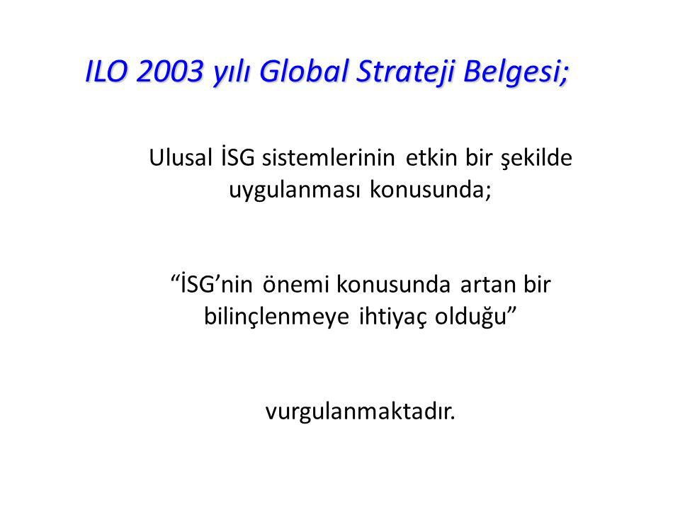 ILO 2003 yılı Global Strateji Belgesi;