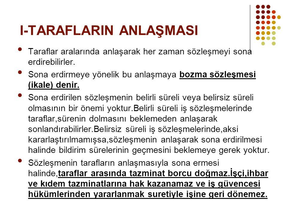 I-TARAFLARIN ANLAŞMASI
