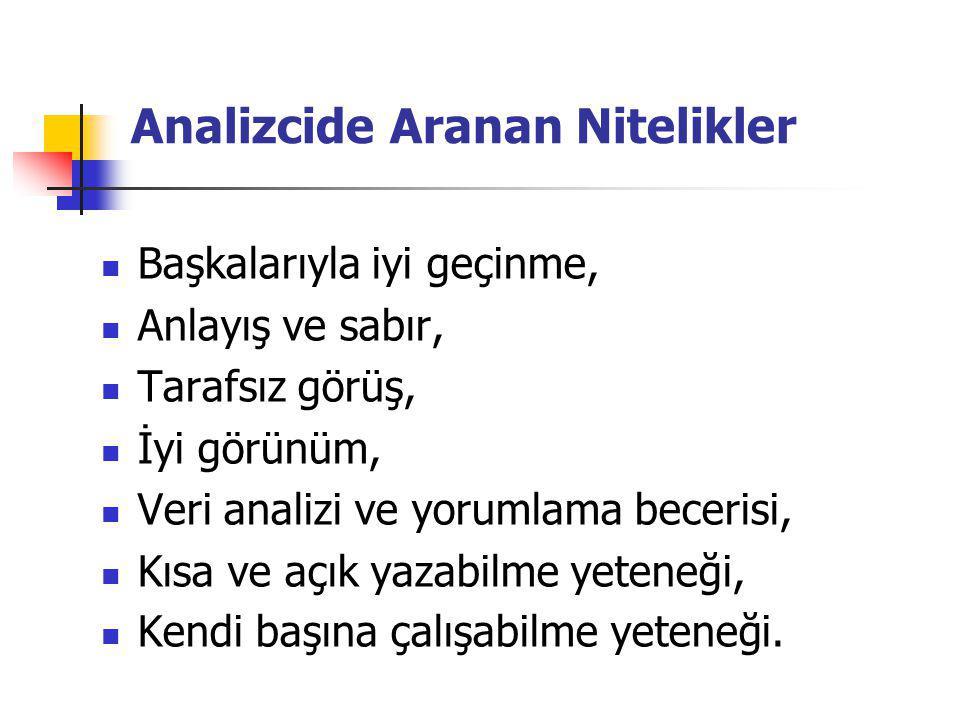 Analizcide Aranan Nitelikler