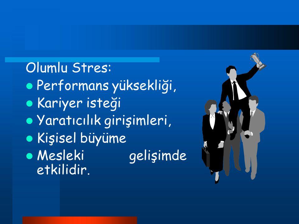Olumlu Stres: Performans yüksekliği, Kariyer isteği.