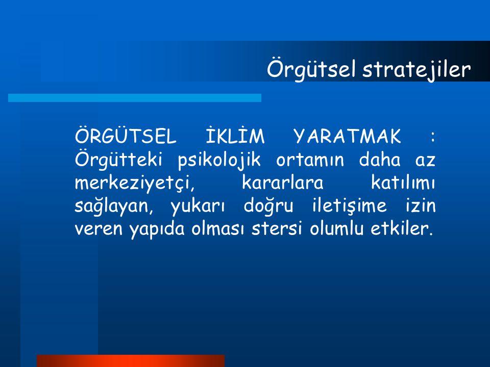 Örgütsel stratejiler