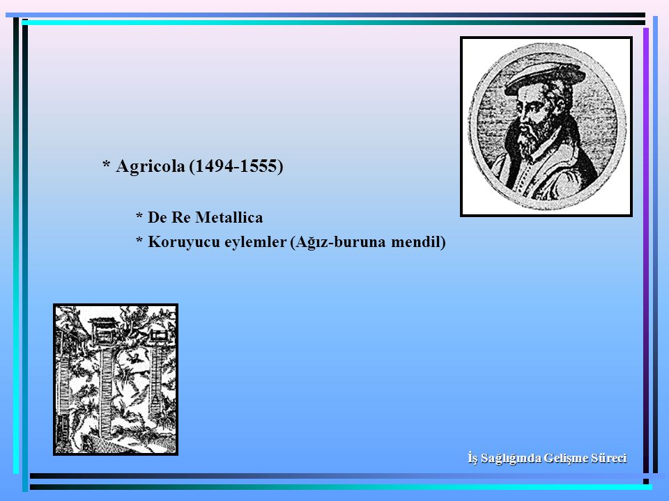 * Agricola (1494-1555) * De Re Metallica