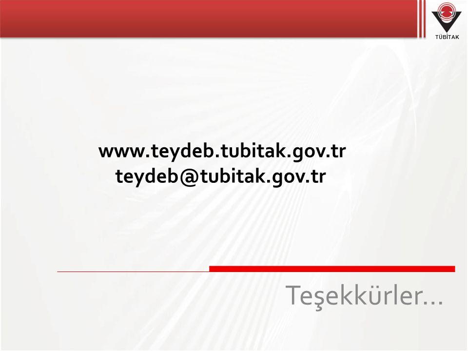 www.teydeb.tubitak.gov.tr teydeb@tubitak.gov.tr Teşekkürler… 21