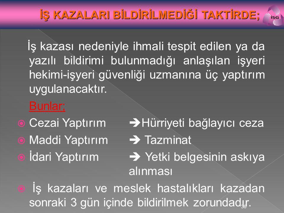 Cezai Yaptırım Hürriyeti bağlayıcı ceza Maddi Yaptırım  Tazminat