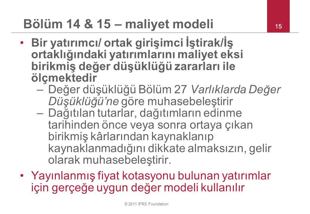 Bölüm 14 & 15 – maliyet modeli
