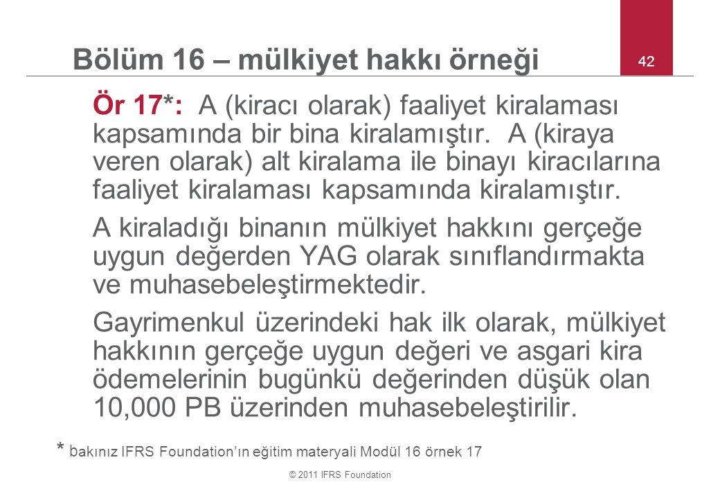 Bölüm 16 – mülkiyet hakkı örneği