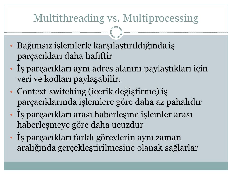 Multithreading vs. Multiprocessing