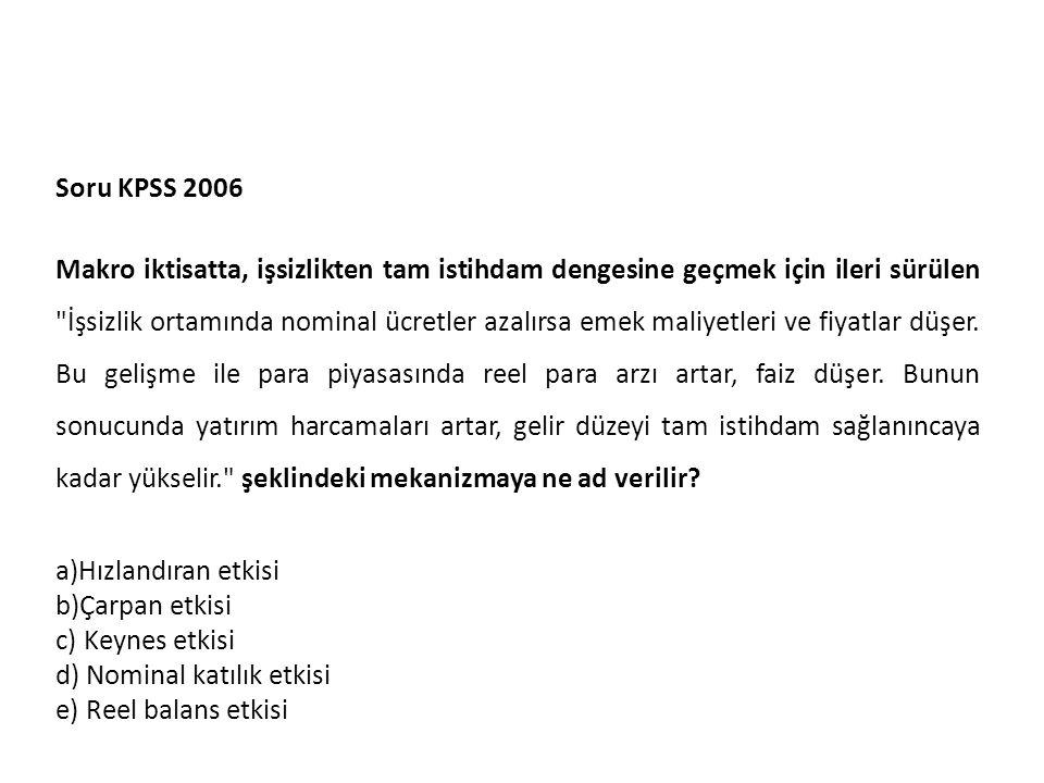 Soru KPSS 2006