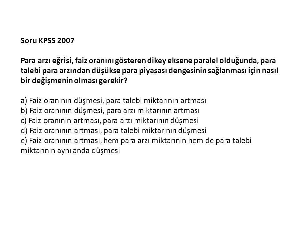 Soru KPSS 2007