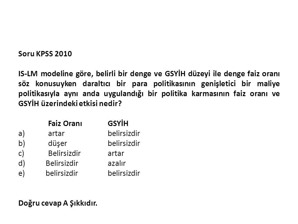 Soru KPSS 2010