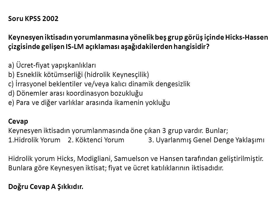Soru KPSS 2002