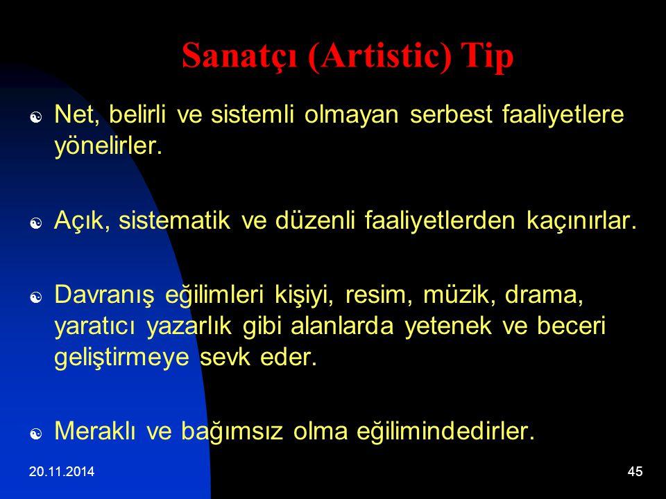 Sanatçı (Artistic) Tip