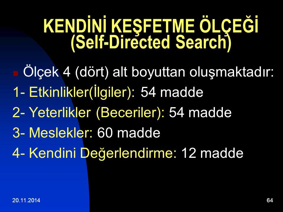 KENDİNİ KEŞFETME ÖLÇEĞİ (Self-Directed Search)