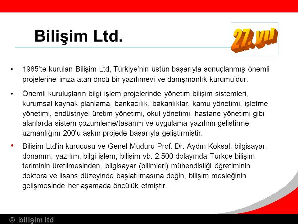 Bilişim Ltd. 27. yıl.