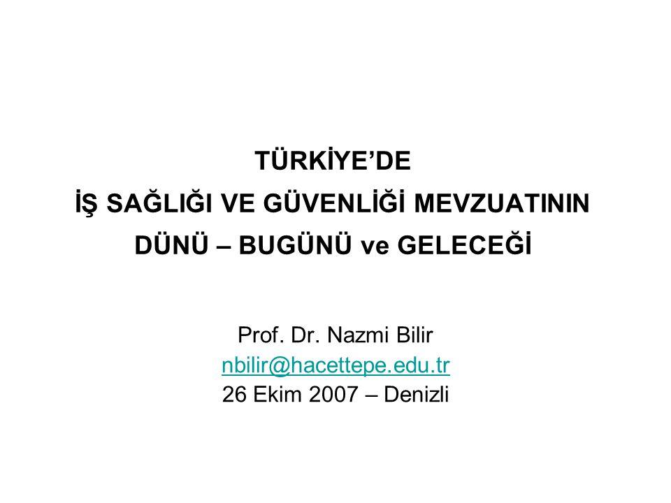 Prof. Dr. Nazmi Bilir nbilir@hacettepe.edu.tr 26 Ekim 2007 – Denizli