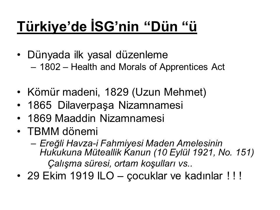 Türkiye'de İSG'nin Dün ü