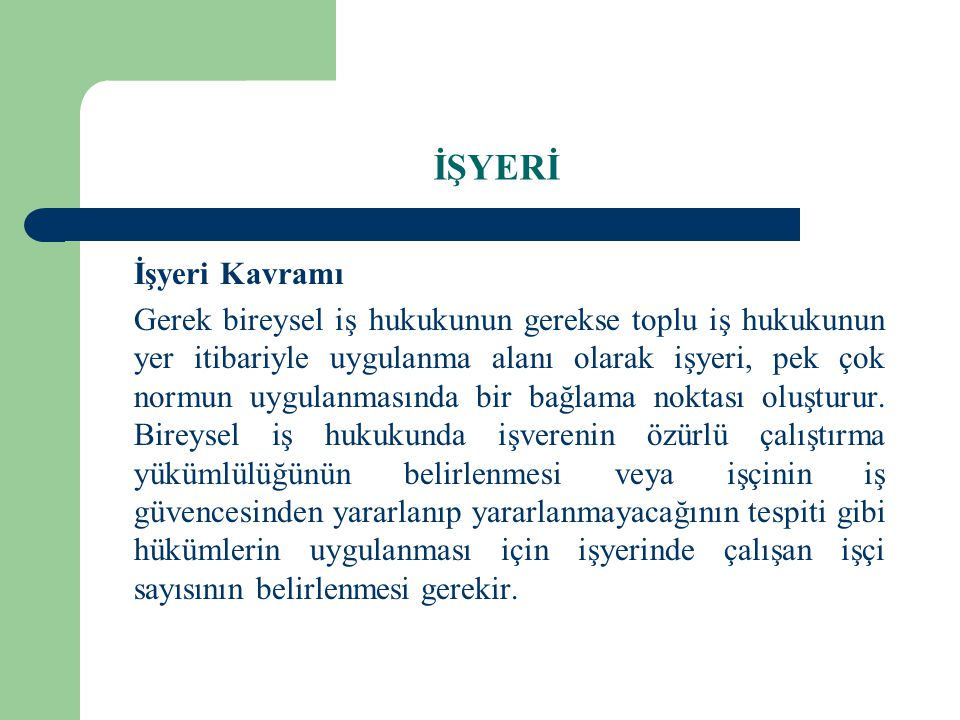 İŞYERİ