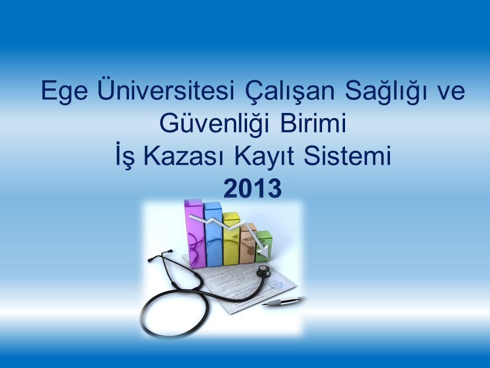 Ege Üniversitesi Çalışan Sağlığı ve Güvenliği Birimi İş Kazası Kayıt Sistemi 2013