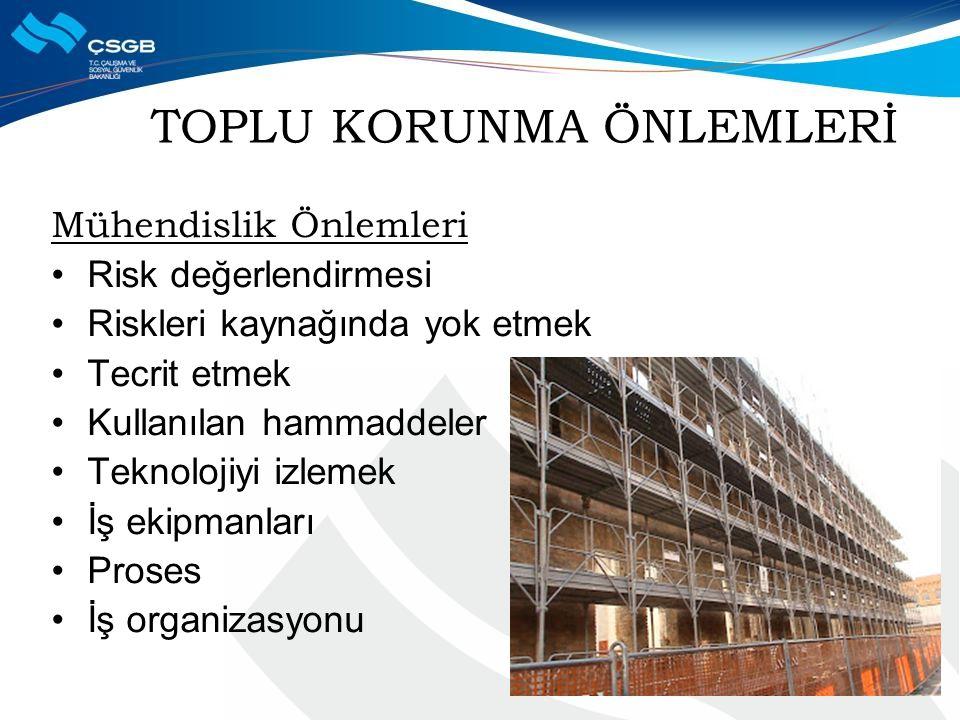 TOPLU KORUNMA ÖNLEMLERİ
