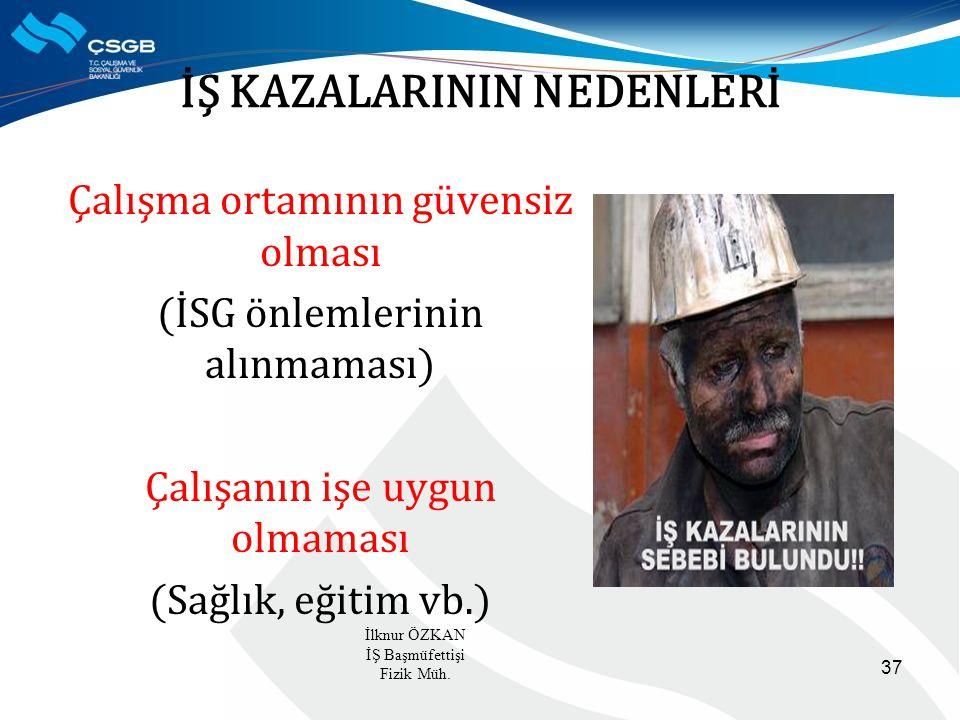 İŞ KAZALARININ NEDENLERİ