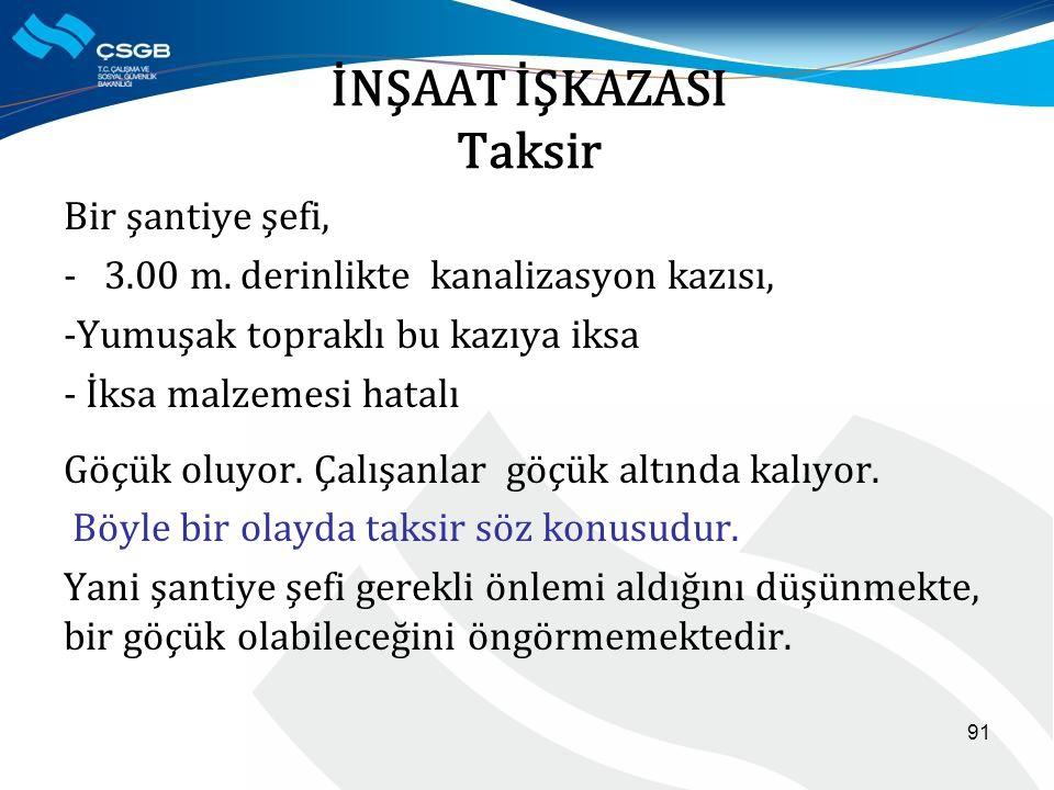 İNŞAAT İŞKAZASI Taksir