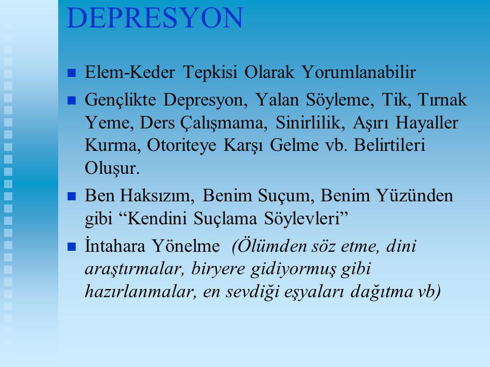 DEPRESYON Elem-Keder Tepkisi Olarak Yorumlanabilir