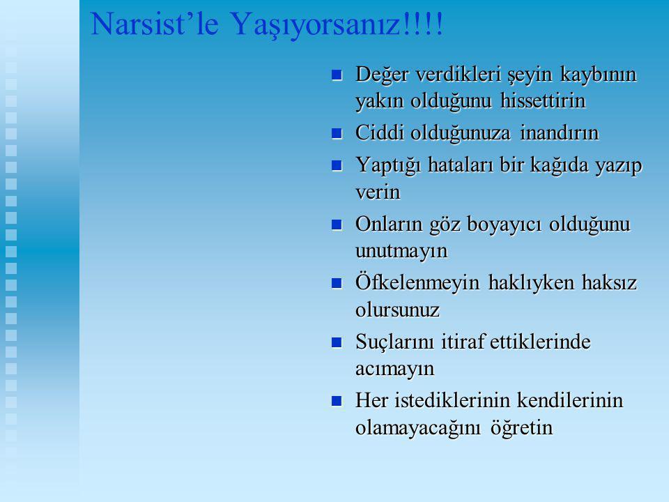 Narsist'le Yaşıyorsanız!!!!