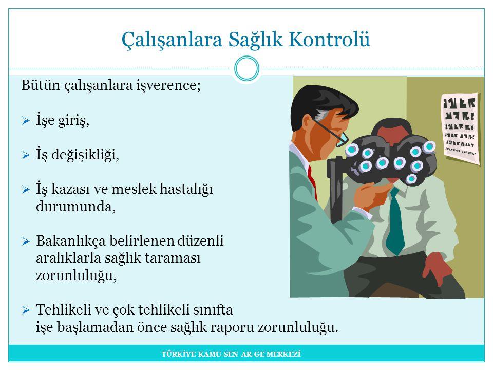 Çalışanlara Sağlık Kontrolü