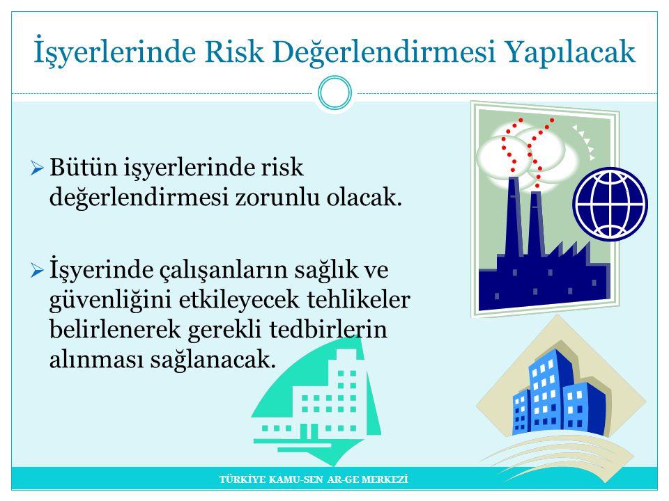 İşyerlerinde Risk Değerlendirmesi Yapılacak