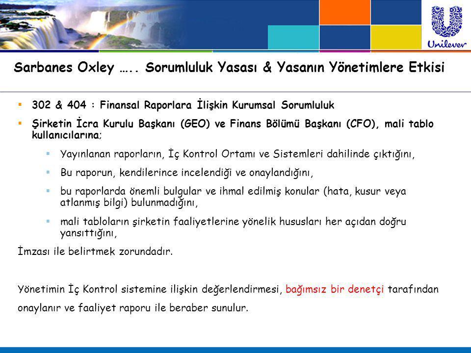 Sarbanes Oxley ….. Sorumluluk Yasası & Yasanın Yönetimlere Etkisi