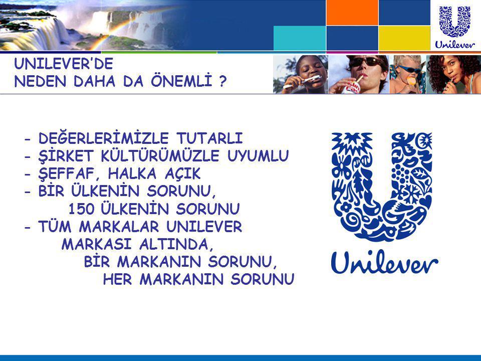 UNILEVER'DE NEDEN DAHA DA ÖNEMLİ