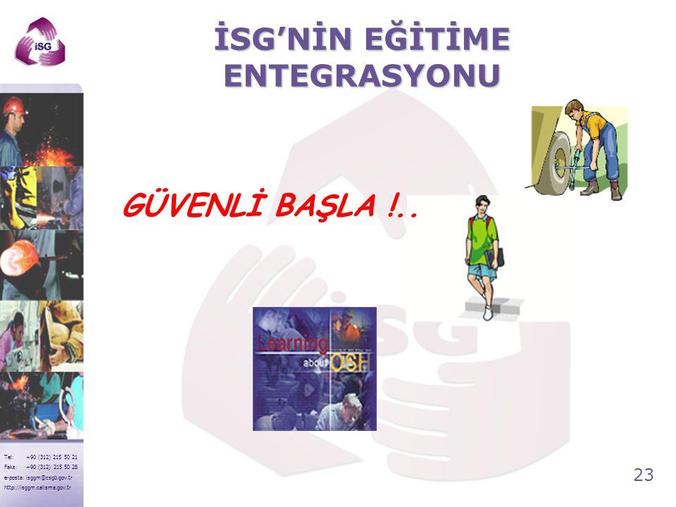 İSG'NİN EĞİTİME ENTEGRASYONU