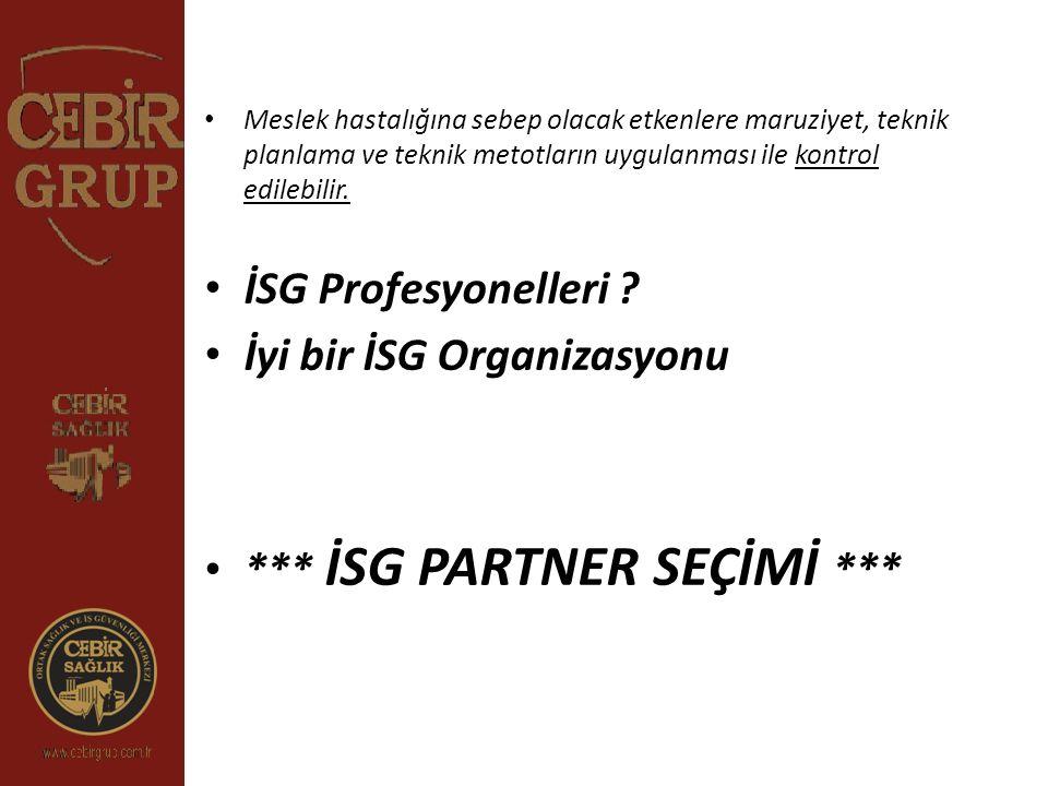 İyi bir İSG Organizasyonu