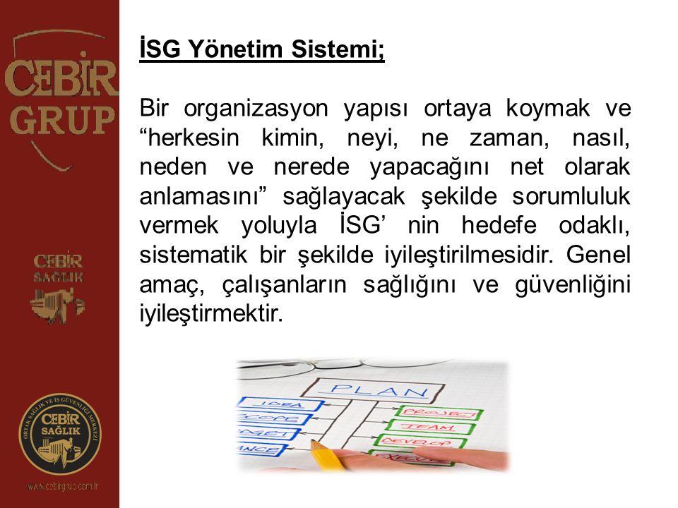 İSG Yönetim Sistemi;