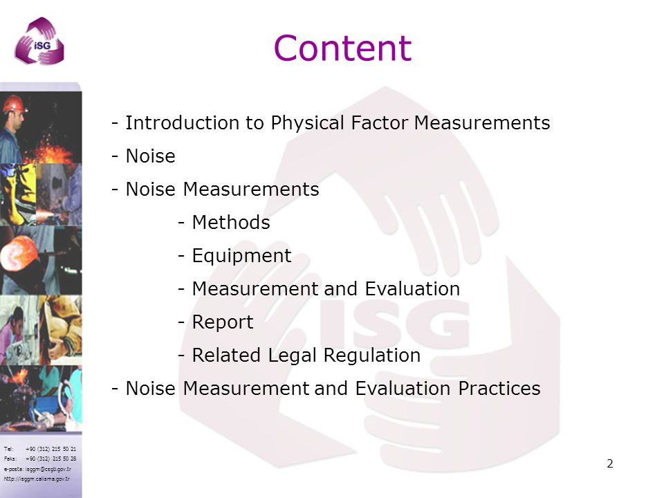 Content - Introduction to Physical Factor Measurements Noise