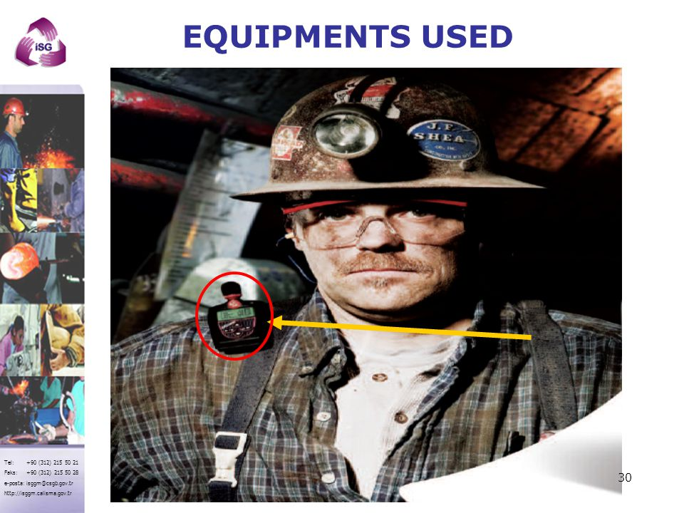 EQUIPMENTS USED
