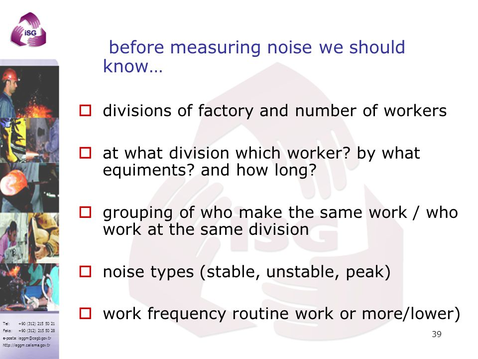before measuring noise we should know…
