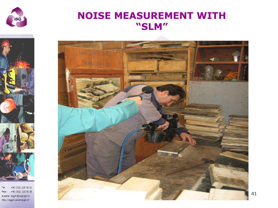 NOISE MEASUREMENT WITH SLM