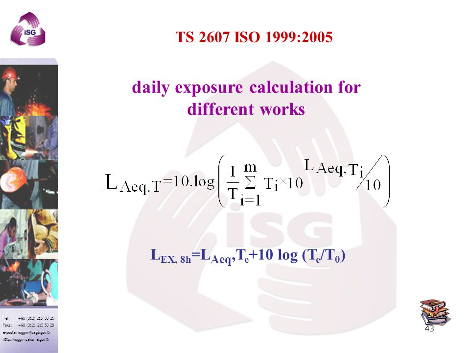 daily exposure calculation for different works