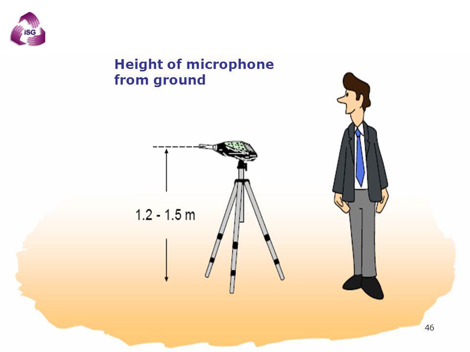 Height of microphone from ground