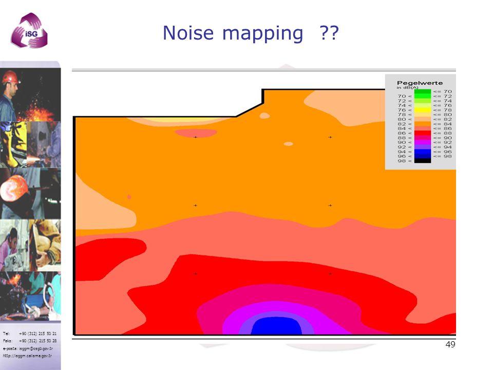 Noise mapping İş yeri Gürültü Haritası Örneği